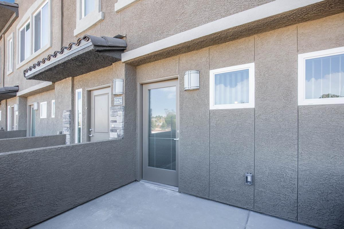 Townhouse Patio at The Passage Apartments in Henderson, NV