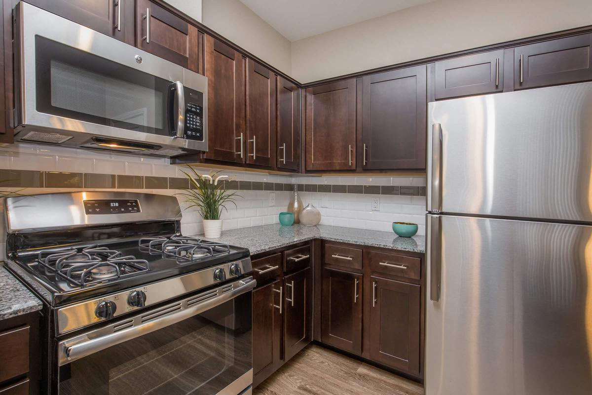 Townhouse Stainless Steel Appliances at The Passage Apartments