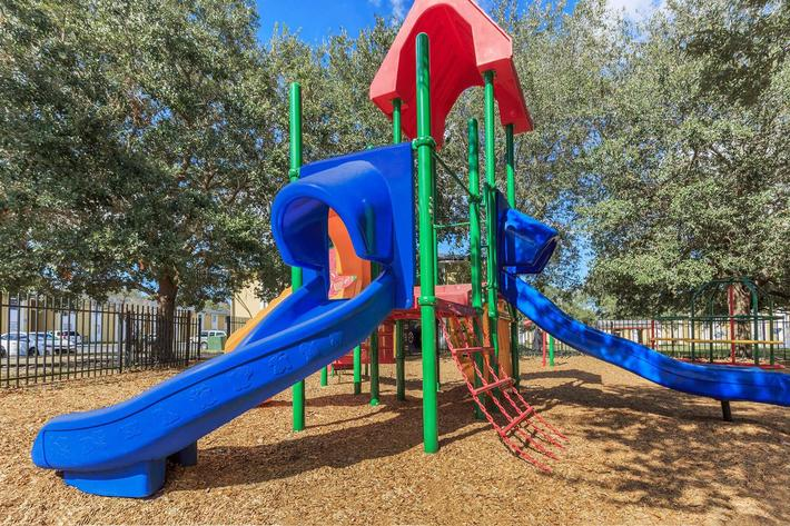 Play area at Riverview Apartments in Jacksonville, Florida