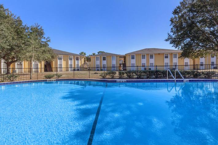 Shimmering swimming pool at Riverview Apartments in Jacksonville, Florida