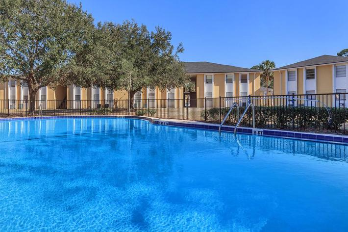 Swim some laps here at Riverview Apartments in Jacksonville, Florida