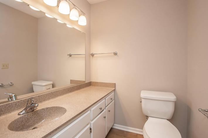 Bathroom at British Woods Apartments in Nashville, Tennessee