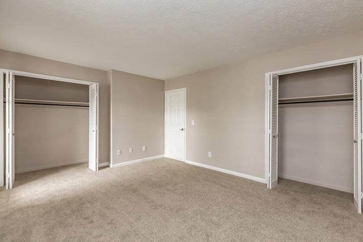 Roomy closets in 2 bedroom townhome