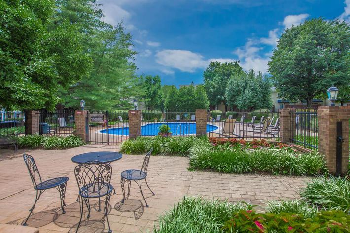 Enjoy the pool at British Woods Apartments