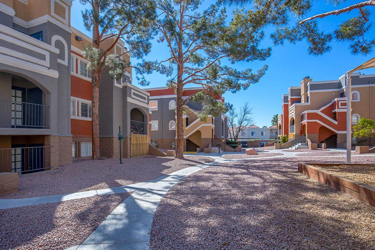 WIDE WALKWAYS AT SEDONA RIDGE IN LAS VEGAS, NEVADA