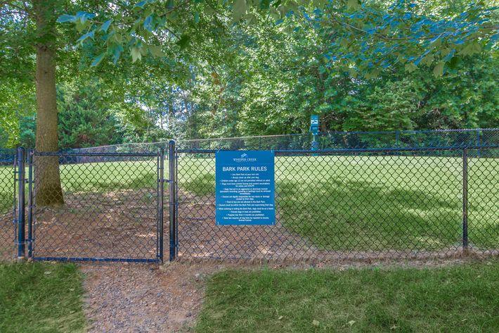 Dog park at Whisper Creek in Rock Hill, South Carolina.