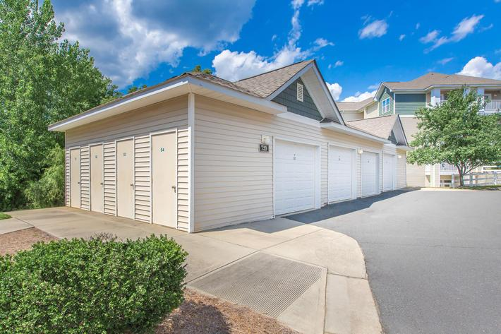 Garage parking with remote access at Whisper Creek in Rock Hill, SC.