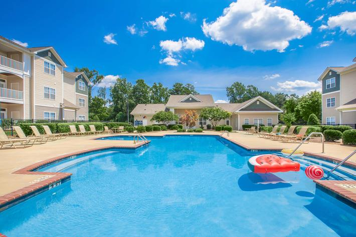 Hang out by the poolside at Whisper Creek in Rock Hill, South Carolina.