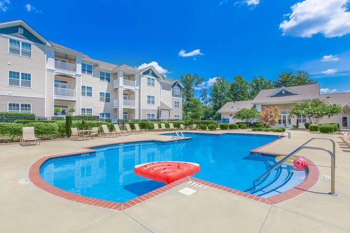 Lavish swimming pool at Whisper Creek in Rock Hill, South Carolina.