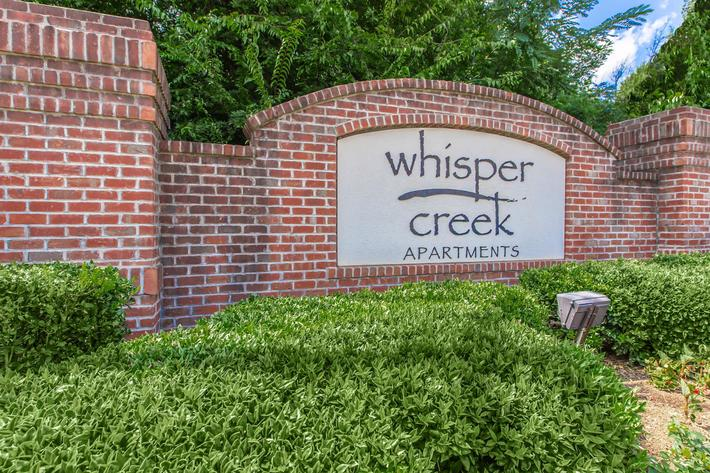 Main entrance at Whisper Creek in Rock Hill, SC.