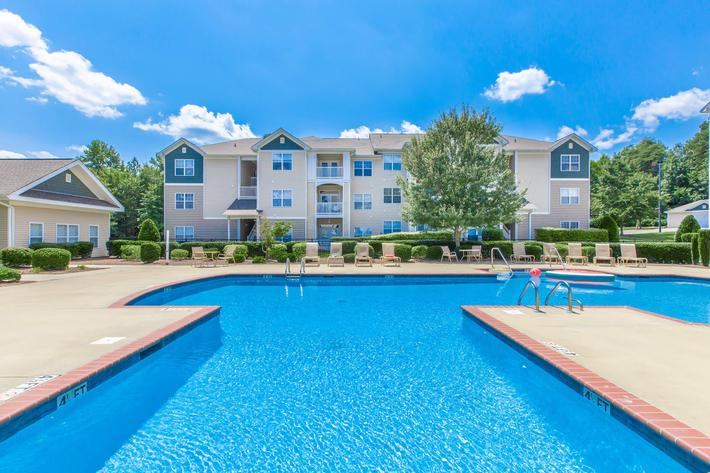 Soak up the sun by the shimmering swimming pool at Whisper Creek in Rock Hill, SC.