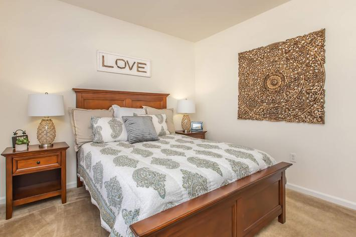 Comfortable bedrooms at Whisper Creek in Rock Hill, SC.