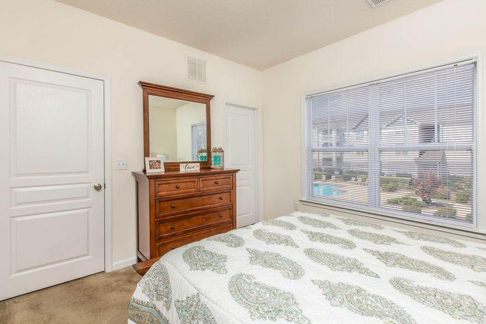 Spacious bedrooms at Whisper Creek in Rock Hill, South Carolina.