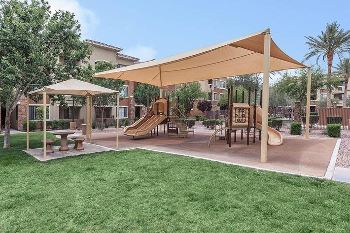Children's Play Area at The Presidio Apartments in North Las Vegas, NV