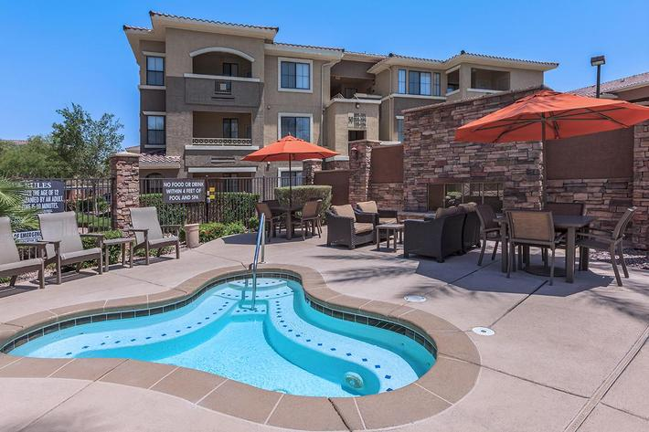 Enjoy the Soothing Spa here at The Presidio Apartments in North Las Vegas, NV