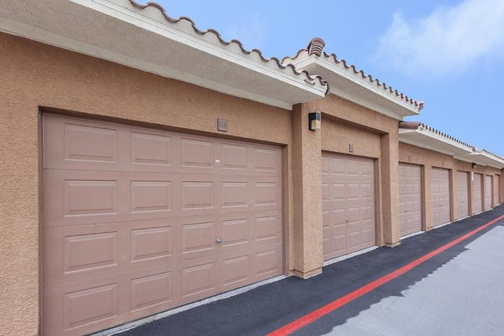 Garages Available here at The Presidio Apartments in North Las Vegas, NV