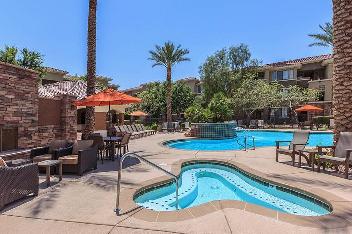 Soak Up Some Rays here at The Presidio Apartments in North Las Vegas, NV