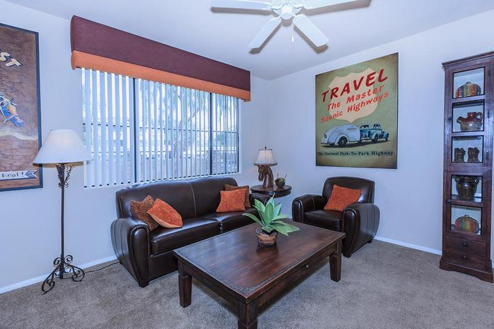 The Havens Living Room at The Presidio Apartments in North Las Vegas, NV