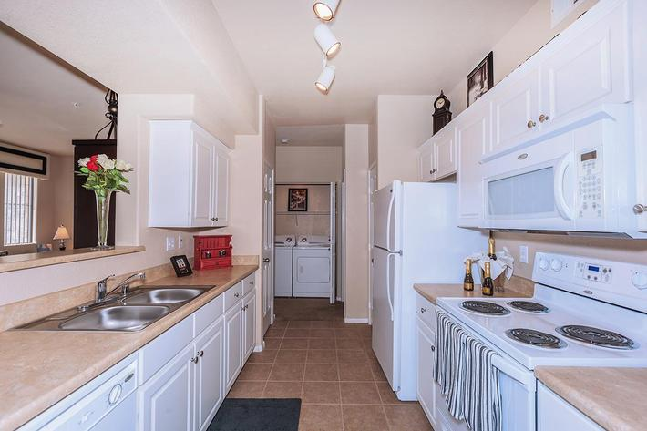 This Gourmet Kitchen Awaits you here at The Presidio Apartments in North Las Vegas, NV