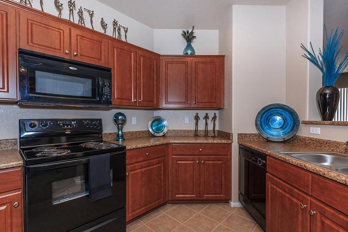 Gourmet Kitchen is Waiting for You here at The Presidio Apartments in North Las Vegas, NV