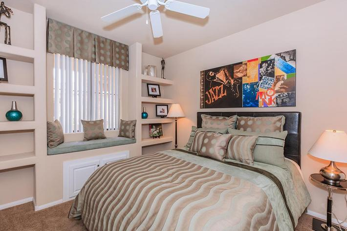 The Signature Chic Bedroom at The Presidio Apartments in North Las Vegas, NV