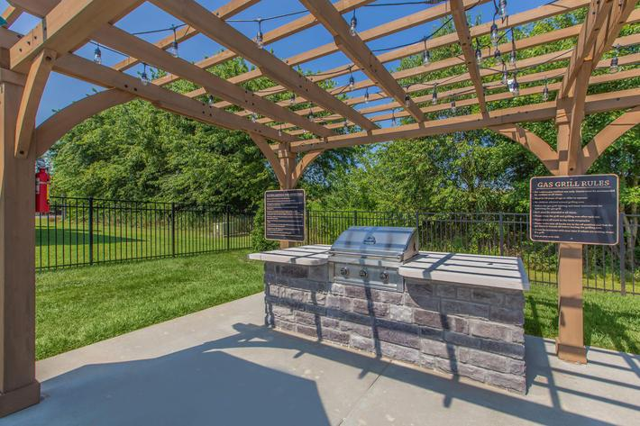 Grilling area at Summertrees