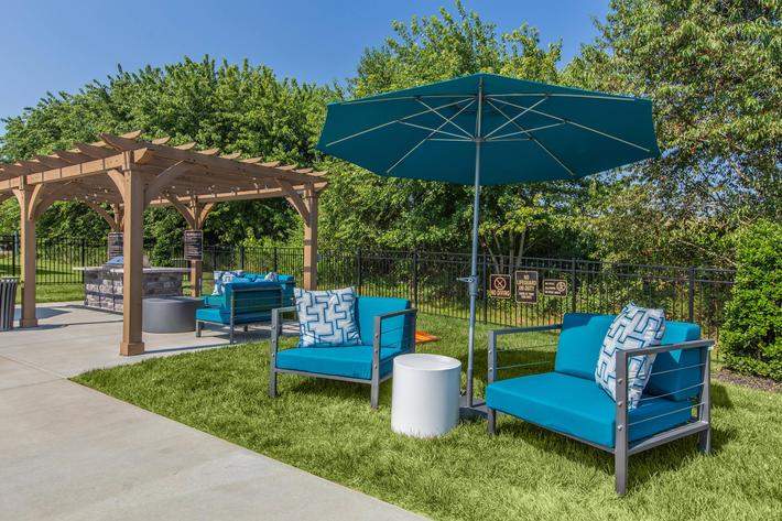 Shaded seating area