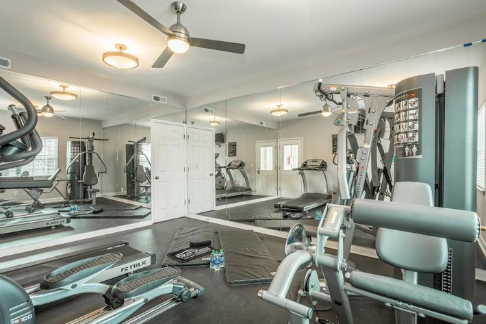 Cardio Equipment at Bluff View at Northside Apartments
