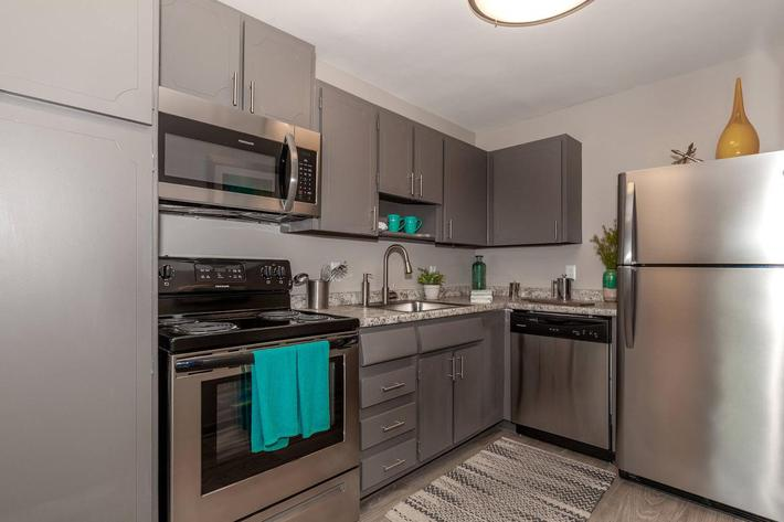 Stainless steel appliance package available at Madison flats