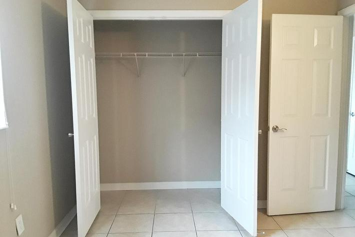 Spacious Closet at River City Place in Jacksonville, FL
