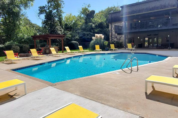 Swim in our saltwater pool in Knoxville, TN