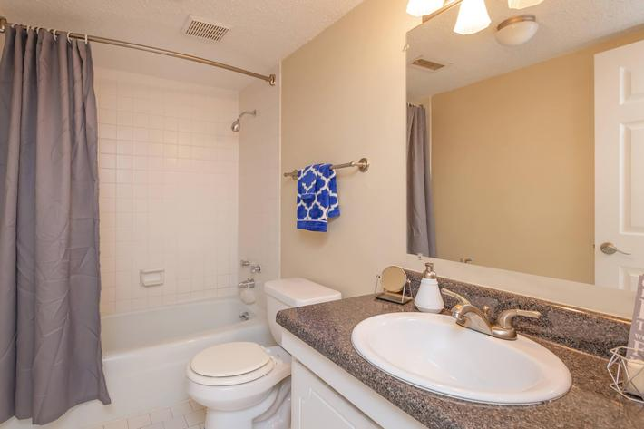 Modern Bathroom at Kingston Pointe Apartments in Knoxville, Tennessee