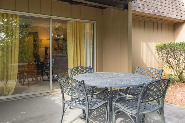 Enjoy Nature on Your Patio Here at Kingston Pointe Apartments in Knoxville, Tennessee