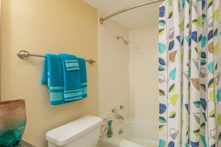 Sleek Bathroom Here at Kingston Pointe Apartments in Knoxville, Tennessee