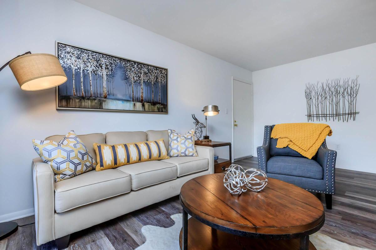 YOUR NEW LIVING ROOM AT WALDEN POND APARTMENT HOMES