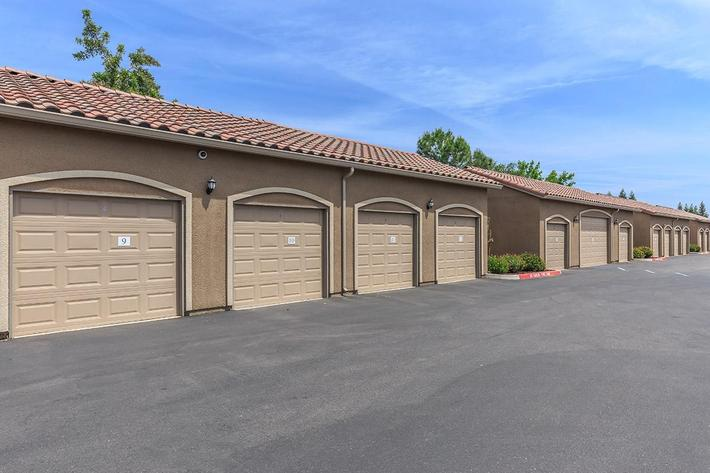 We have garages here at Boulder Creek