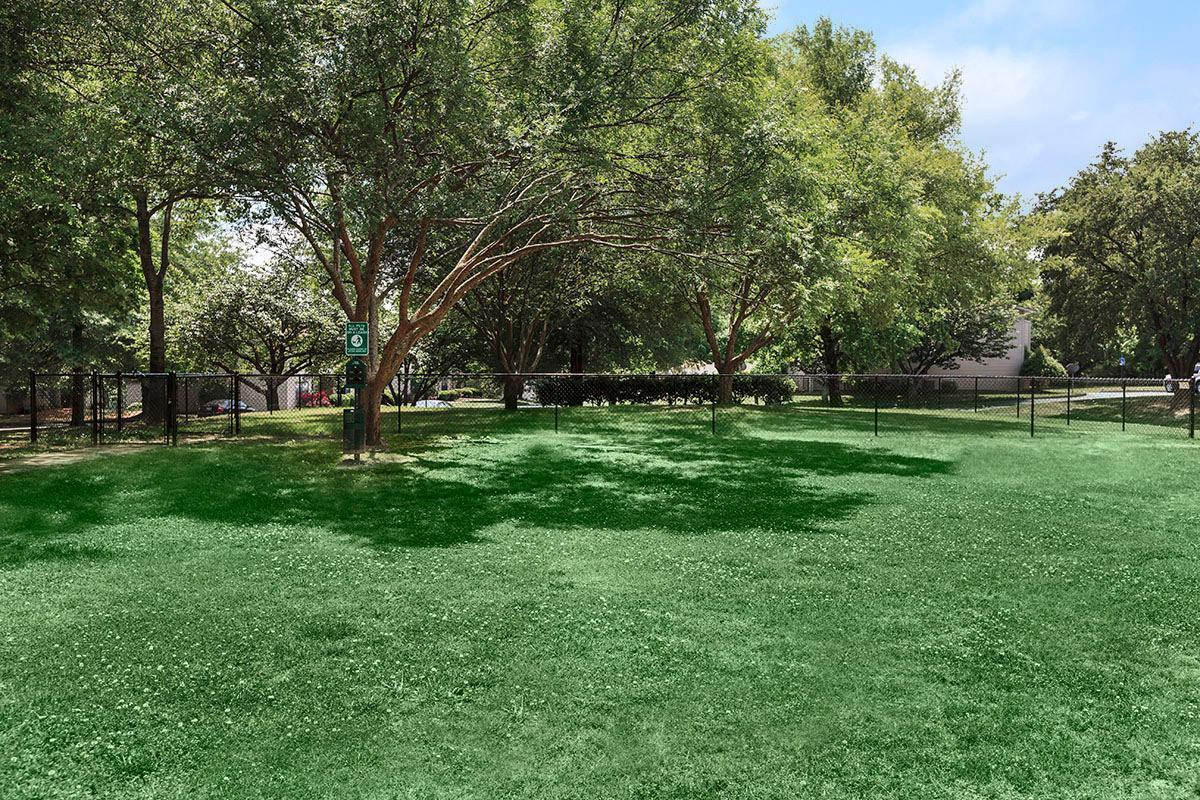 The Dog Park with Pet Waste Stations at Laurel Ridge Apartments