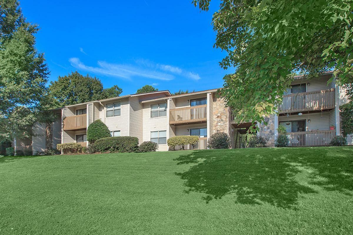Beautiful Landscaping Surrounds the Laurel Ridge Apartments