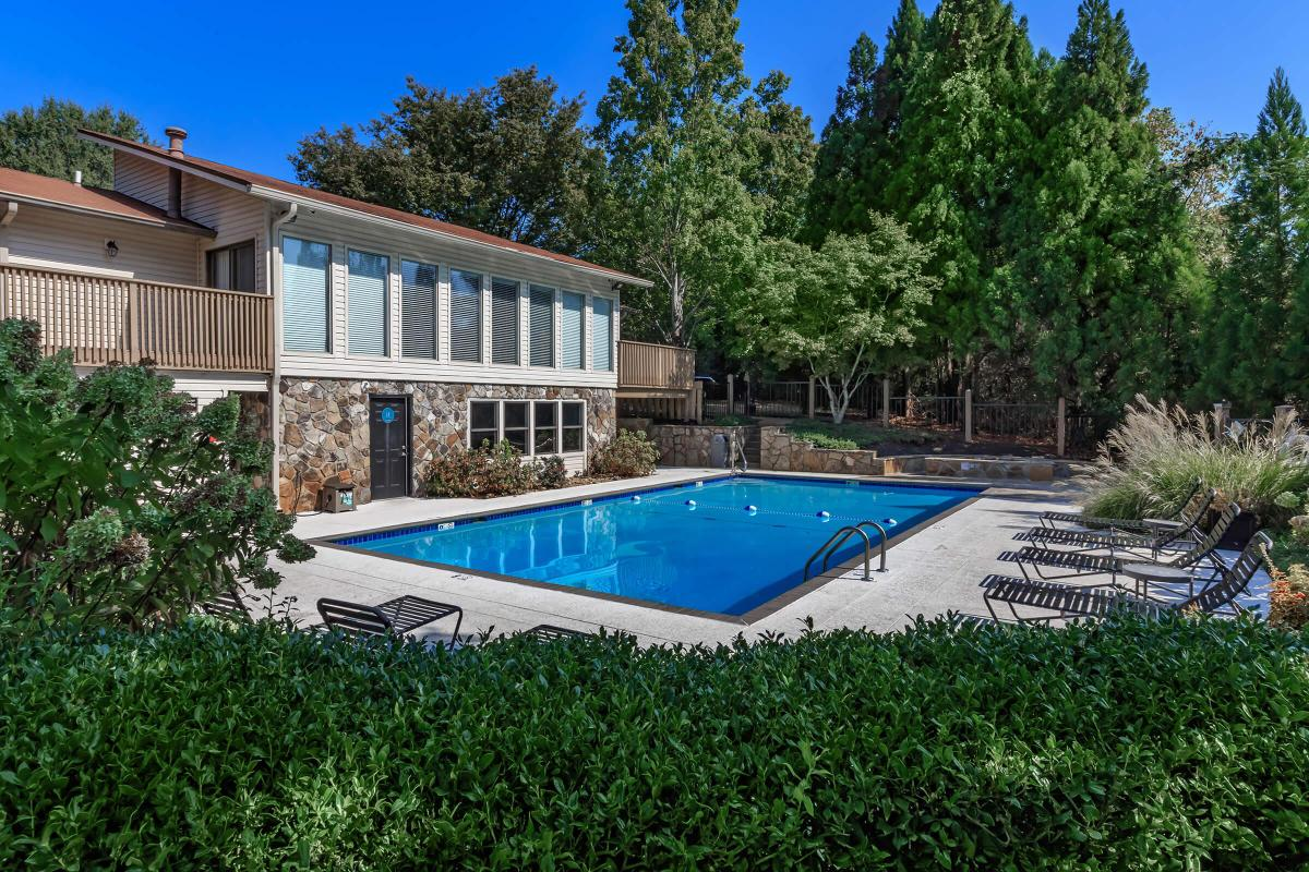 The Shimmering Swimming Pool at Laurel Ridge Apartments in Chattanooga, Tennessee