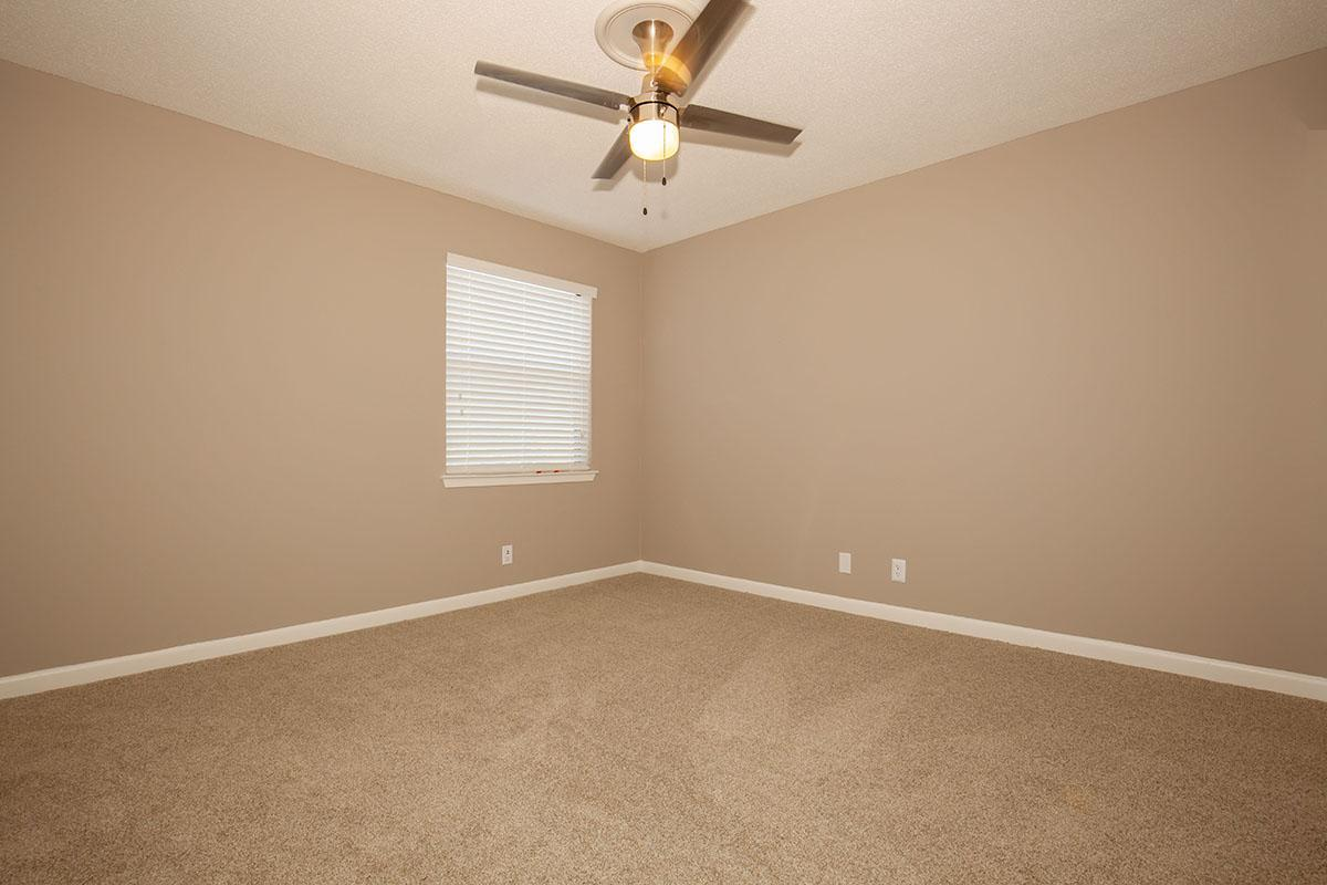 Carpeted Bedrooms and Ceiling Fans
