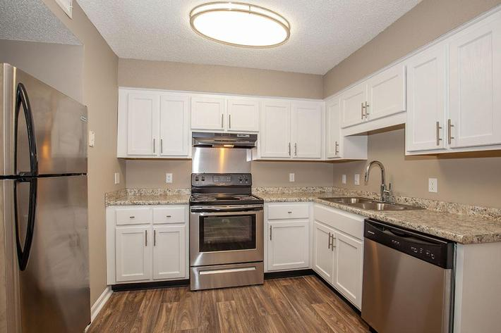 STAINLESS STEEL KITCHENS AT LAUREL RIDGE APARTMENTS