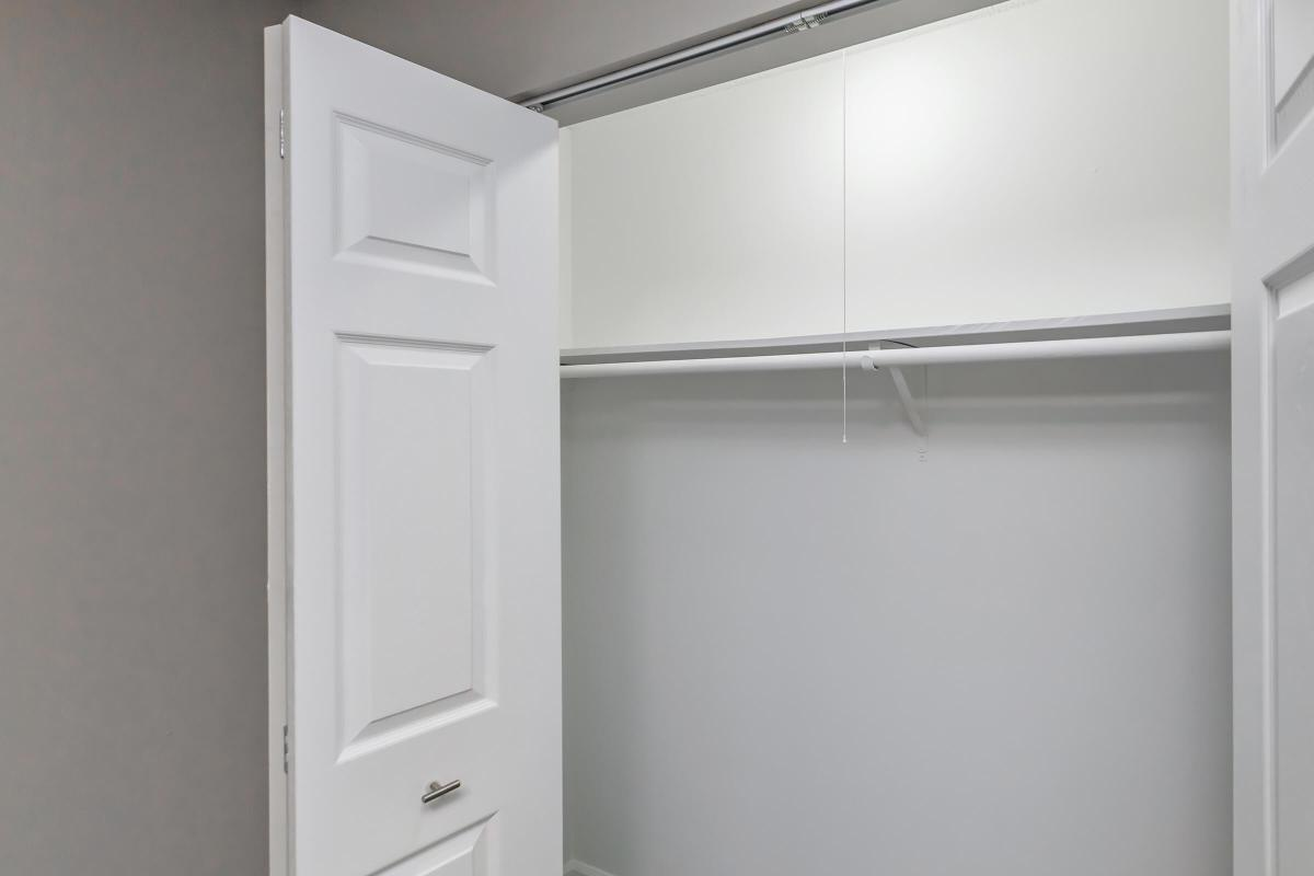 Closet Space with Light in The Magnolia at Laurel Ridge Apartments in Chattanooga, Tennessee