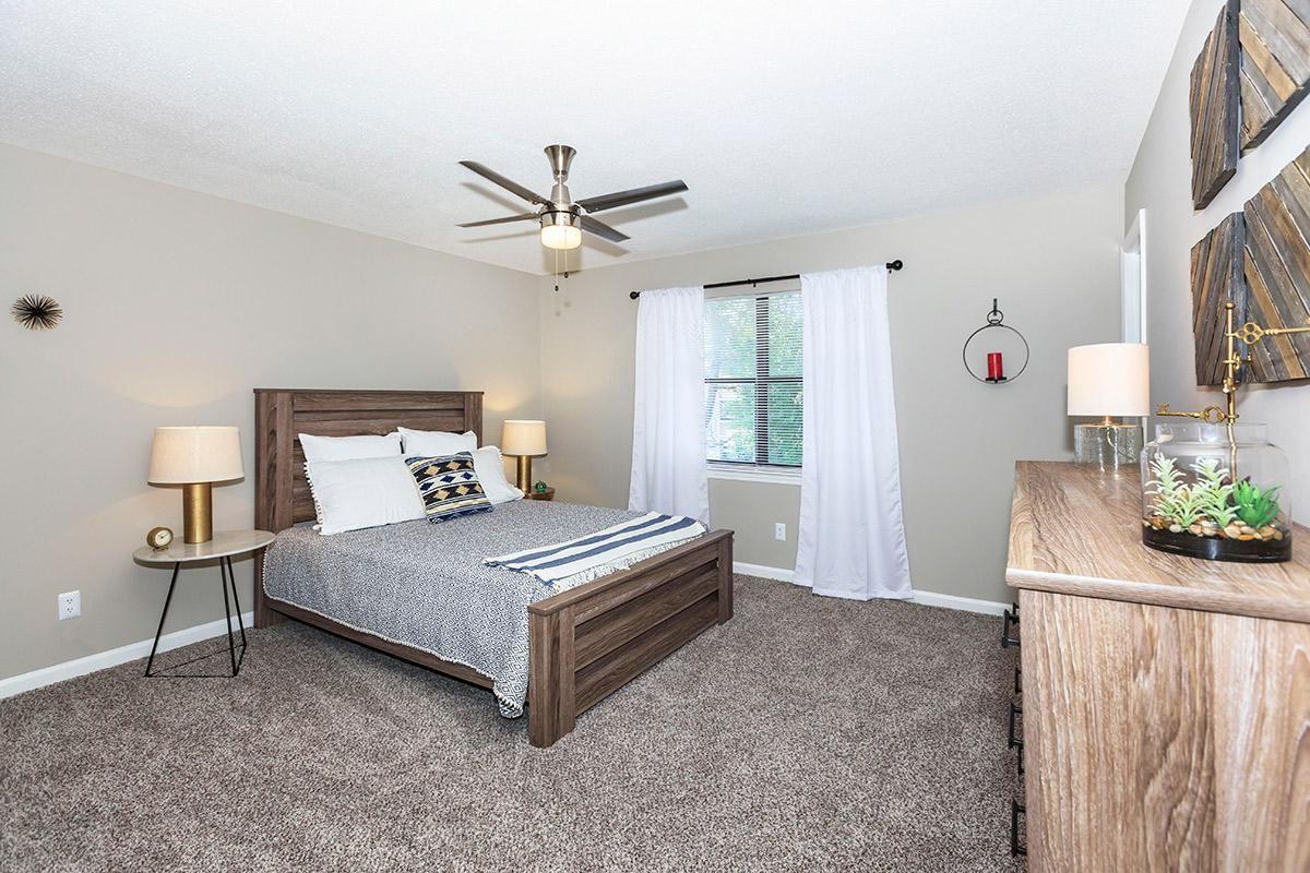 Carpeted bedroom floors at Laurel Ridge Apartments