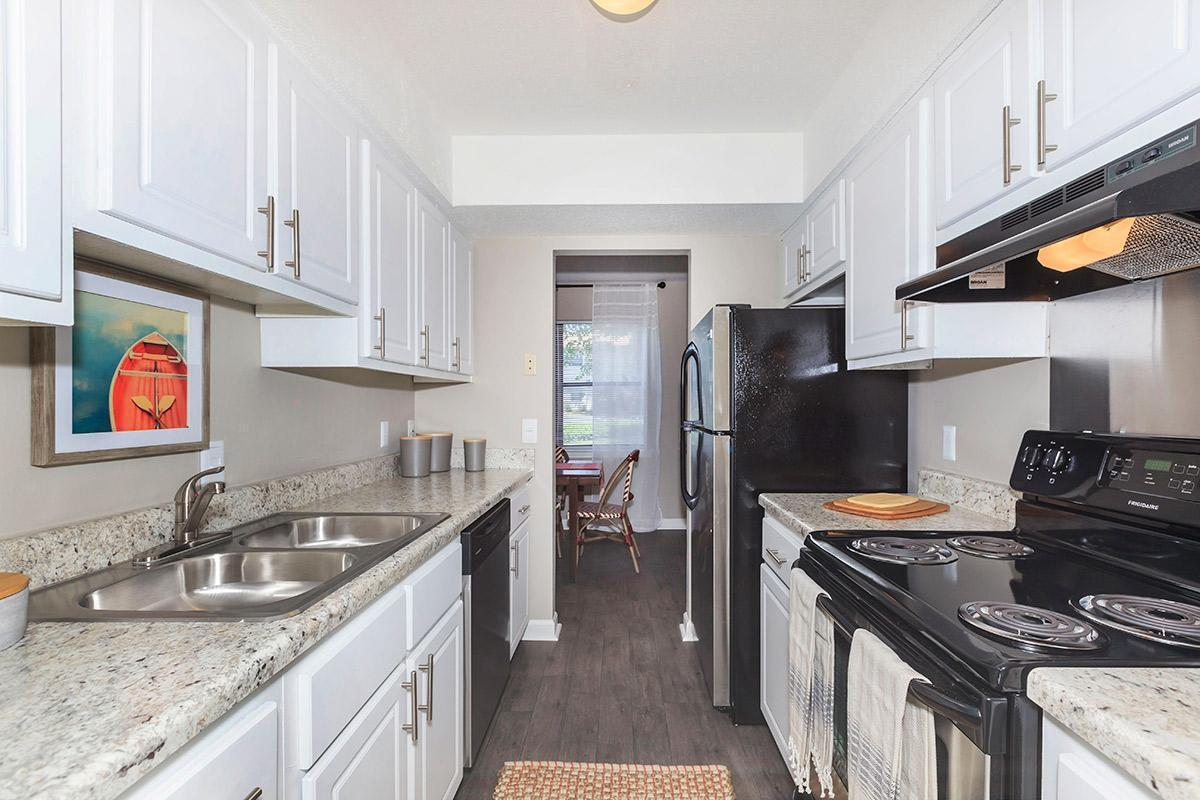 This is the All-Electric Kitchen at Laurel Ridge Apartments