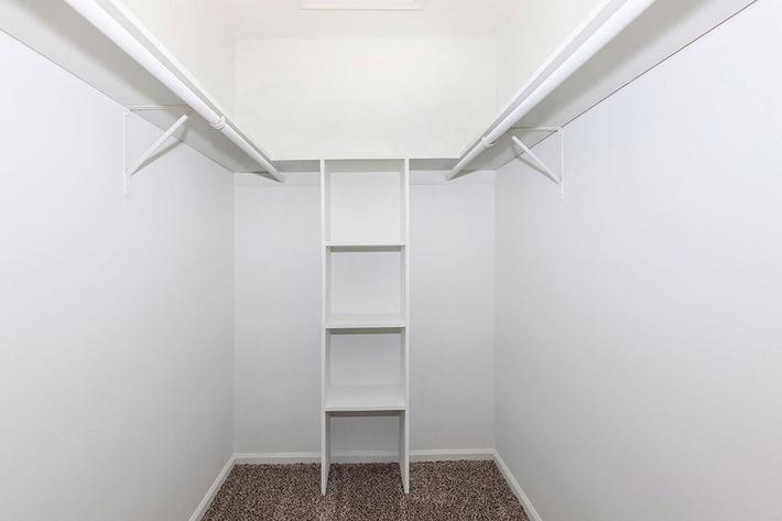 WALK-IN CLOSETS IN HOMES AT LAUREL RIDGE APARTMENTS