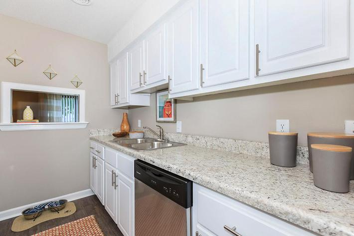 Kitchen of the Magnolia Floor Plan at Laurel Ridge Apartments in Chattanooga Tennessee