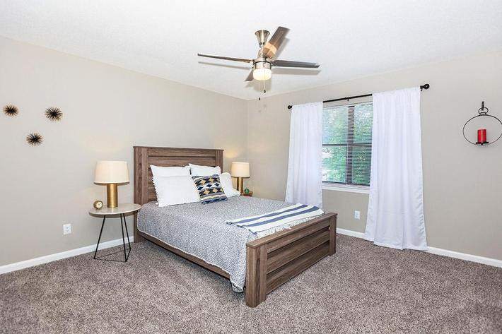 Magnolia Floor Plan Bedrooms Have Lighted Ceiling Fans