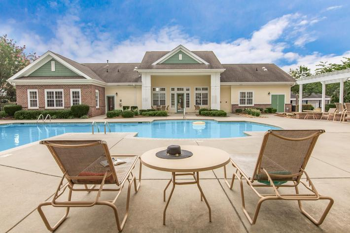 Relax Beside Our Sparkling Swimming Pool At Heather Ridge In Charlotte, NC