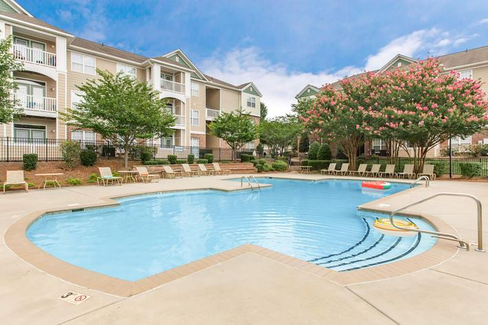 Relax By The Pool In Heather Ridge In Charlotte, NC
