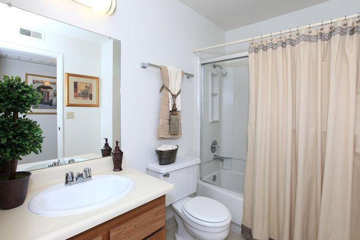 We offer modern-style bathrooms at Lake Ridge